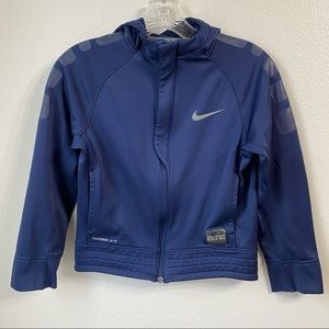 Nike Boys Elite Basketball Hoodie Blue Size Medium